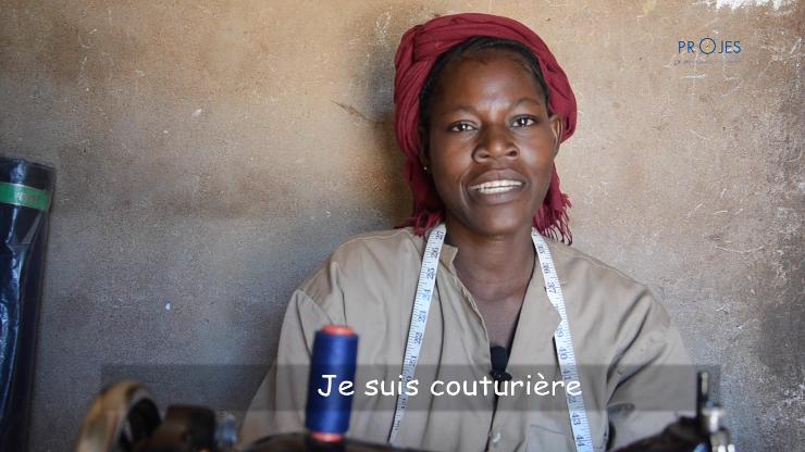 Vidéo: Portrait de Maria Théra, couturière à Tominian et bénéficiaire des AGR du PROJES